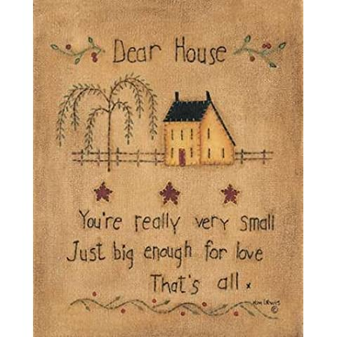 Dear House by Lewis, Kim Stampa Giclée su tela, in carta e decorazioni disponibili, Tela, (Folk Primitive Decor)