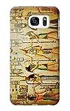 E0272 Egypt Wall Art Etui Coque Housse pour Samsung Galaxy S7