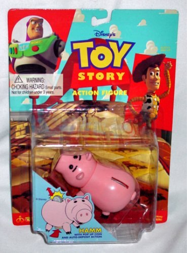 Vintage 1995 Toy Story Hamm Piggy Bank Style Action Figure by Toy Story