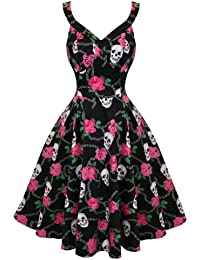Hearts & Roses Damen Kleid Schwarz Schwarz