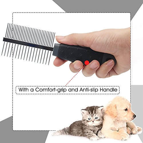 Soft Protection Salon Quality Coarse Wide Toothed Detangling Comb For Dog Cat Pet Rosewood