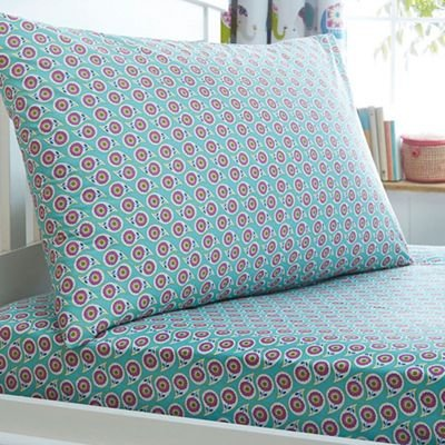 Debenhams Butterfly Home by Matthew Williamson Kids 'Elefant Pride Spannbetttuch Set, 50% Baumwolle / 50% Polyester, Mehrfarbig, Laken Einzelbett