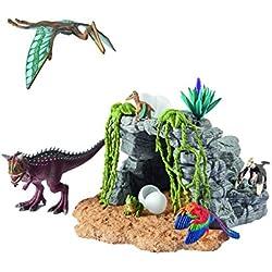 Schleich - Set de dinosaurios con cueva (42261)