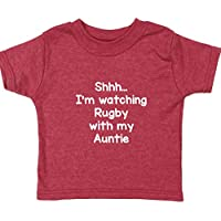 Hippowarehouse Shhh… I'm Watching Rugby With My Auntie Baby Unisex t-Shirt Short Sleeve