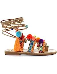 Zapatos de Mujer Sandalia Pompones Chili Mango DimitraS Workshop Primavera Verano 2018