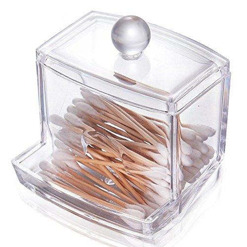 *Tobewell Acryl Wattestäbchen Behälter Halter Q-Tips Aufbewahrung Box*