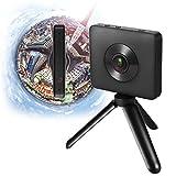 Kameras Sport, Jiami VR CAMERA Dual Lens 23.88MP Sensor 3.5K Video Aufnahme-6-axis Watt 360Degree Panorama-Kamera mit Halterung für Stativ, Kythira Halterung A12, WLAN, Bluetooth