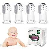 Baby Spazzolino da dito, Tinabless Baby Massaggiatore Orale In Silicone Per Pulizia Denti Neonati lavarsi i denti e gengive massaggio - 4 pezzi