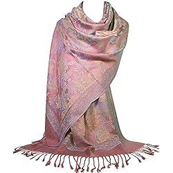GFM Mosaico Diseño Pashmina estilo bufanda chal (SA)(S9-299-DGLB)
