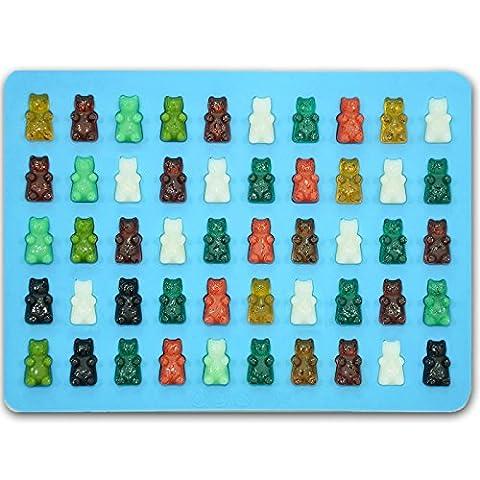 Ticent Gummy Bear Candy Moulds (Blue)