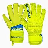 Reusch Kinder Fit Control S1 Evolution Torwarthandschuhe, Lime/Safety Yellow, 4