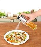 Olivenöl Sprayer Kochen Balsamico Essig Öl Sprüher,Ölspender Öl Auslöser Essig Sprühflasche für Barbecue,Edelstahl Olive Oil Sprayer Glas Flasche