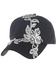 Vovotrade® ❃❃Bonnet de Mode Féminin Bouton de Baseball Cap Topee Diamond Pointillé