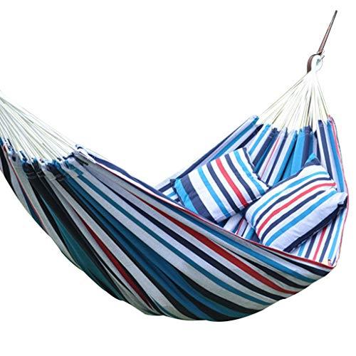 aukel Hängematte Balkon Leinwand Hängematte Hängematte Mit Stand Tragbare Camping Hängematte, Tragfähigkeit Über 250 KG (Color : Blue, Size : B) ()
