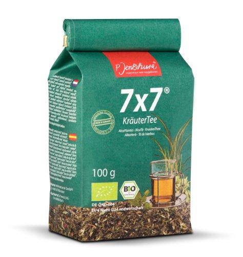 Jetzt NEU: Jentschura 7x7 KräuterTee 100 g in 100% Bio-Qualität (2 x WurzelKraft fruchtig/würzig à 10 g gratis)