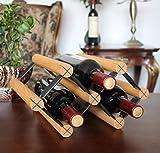 Weinregal, Abnehmbares Massivholz-Weinregal Holzfarbe Weinflaschenständer Rotwein-Geschenk-Dekoration-Geschenk, das Arbeitsplatte-Weinregal gibt Freistehendes Weinregal-Wohnzimmer-Restaurant Buche