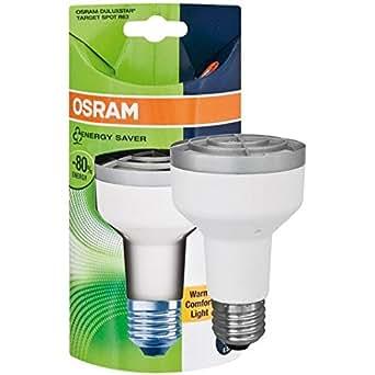 Osram Duluxstar basse consommation R63Réflecteur 11W ES E27Blanc chaud 10000heures de vie de la lampe