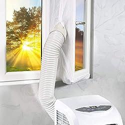 Joint de Fenêtre pour Climatisation Mobiles et déshumidificateurs, Homegoo Fenetre Climatisation pour Fenêtre Universelle avec Longueur Maximale de 400cm