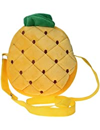 La vogue Fruit Form Kinder Umhängetasche Body Bag Crossbag (4 Ananas)