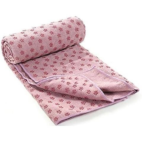 SOGAR Yoga asciugamani e tovagliolo di mano non Slip Mat Yoga caldo del tovagliolo, viola chiaro