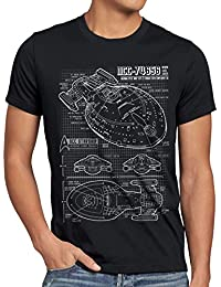style3 NCC-74656 Voyager T-Shirt Herren trek trekkie blaupause