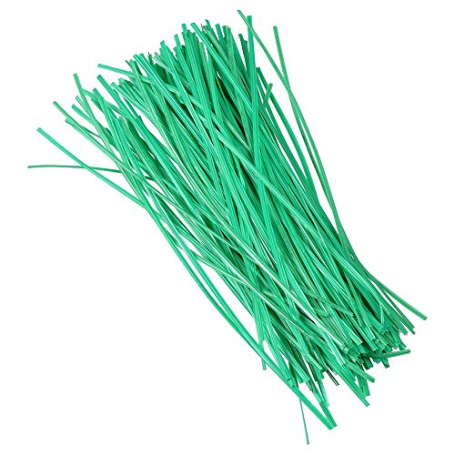 Drehbinder 15cm 100Stück grün Drahtkern Bindedraht
