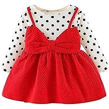 LANSKIRT Ropa de Recién Nacido Infantil bebé niñas Vestido Estampado de  Flores del Arco Princesa Vestido aa118ae9081d