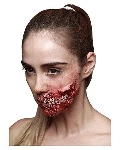 Halloween-Zombie-Kieferfra-Latexwunde