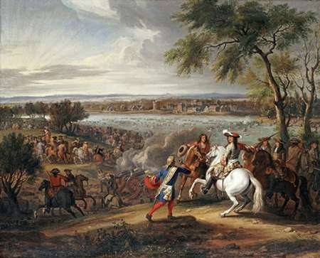Adam Frans Van Der Meullen - King Louis XIV of France Crossing The Rhine Kunstdruck (50,80 x 60,96 cm) -