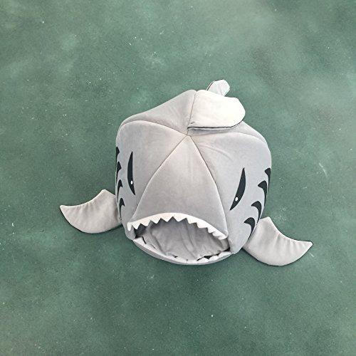 Forma rotonda grigio squalo Pet Bed House