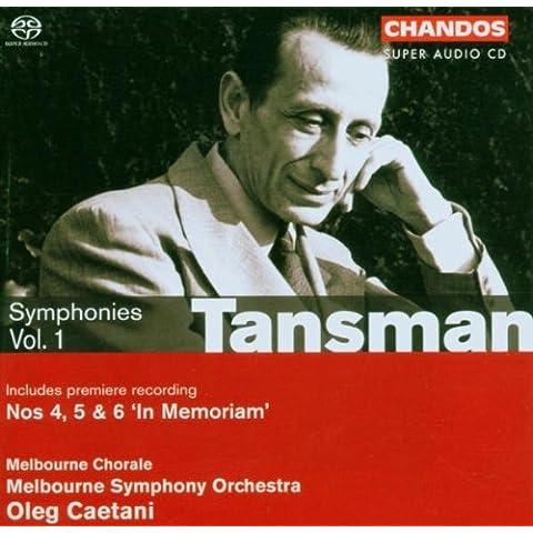 Alexandre Tansman : Symphonies n°4, 5 et 6 - vol.1