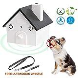 U.LIFE Ultraschall Bellkontrolle Anti-Bellkontrolle für Außenbereiche 15 Meter Reichweite Hundeerziehung Anti-Bell/Gegen Bellen/Hundebellen