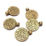 #6: Beadsnfashion German Silver Charms Golden 16x14 mm, Pack Of 50 Pcs.
