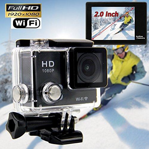 CROCON S5 Wifi Action Camera 1080P full HD Car Camera DVR 30M Waterproof 2.0Inch TFT Helmet Camera Sport DV