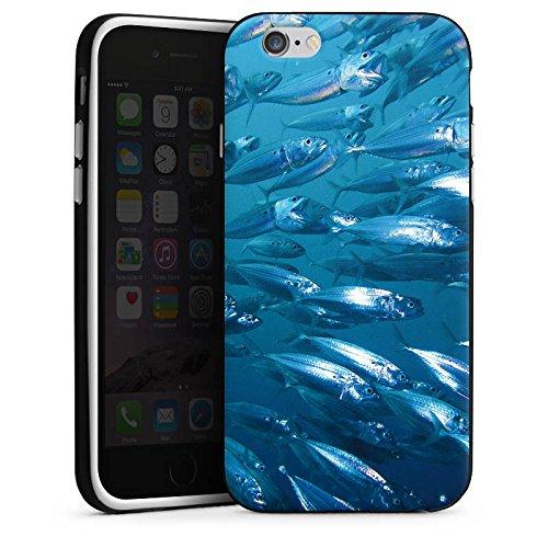 Apple iPhone 6 Housse Étui Silicone Coque Protection Poisson Poissons Banc de poissons Housse en silicone noir / blanc