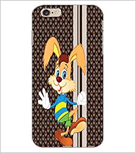 PrintDhaba Bunny D-3342 Back Case Cover for APPLE IPHONE 6 PLUS (Multi-Coloured)