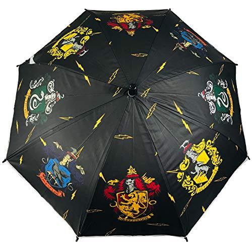 512mIwBfgkL - Paraguas Harry Potter Casas Hogwarts Slytherin Ravenclaw Hufflepuff Gryffindor Paraguas Automático Infantil Niño Niña 80cm