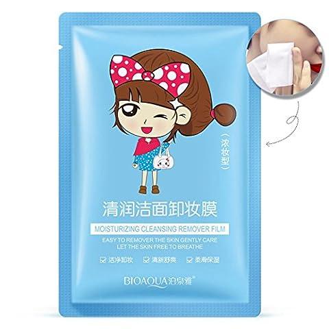 Lanspo Make-up-Entferner Maske Sauber und erfrischende Feuchtigkeitsspendende Gesichtspflege Remover Film (Staub Remover)