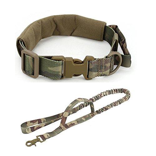 Tactical verstellbare Hund Kragen und stretchable Leash Set für die Jagd Airsoft Paintball Dog Training Equipment