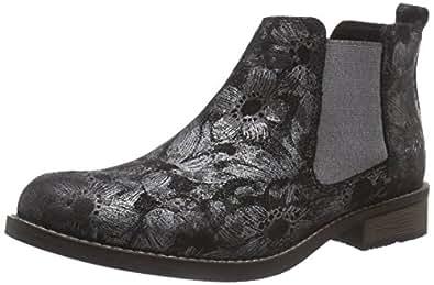 s oliver 25335 damen chelsea boots schwarz black multi. Black Bedroom Furniture Sets. Home Design Ideas