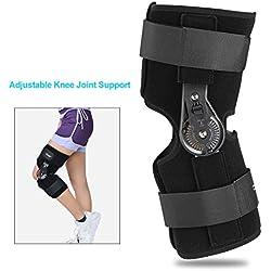 Soutien de genou, soutien ajustable réglable d'orthèse de genou d'attelle de genou(M)