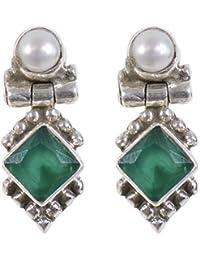 6fda6a5fbd5 Green Women s Earrings  Buy Green Women s Earrings online at best ...
