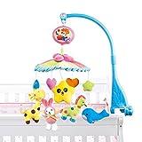 NextX B201 Baby Boy & Girl Bettwäsche Krippe Musik-Mobile mit hängenden Rotierende weichen bunten Plüsch-Puppen, Tierfreunde, E-Music Box 20 Melodien pädagogisches Spielzeug (B201-Judy)