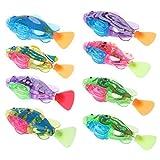 ECMQS 1 Stücke Kinder Schwimmen Wasserspielzeug Fisch, Bunten LED-Licht Blinkleuchte Wasserbad Spielzeug Baby Badespielzeuge