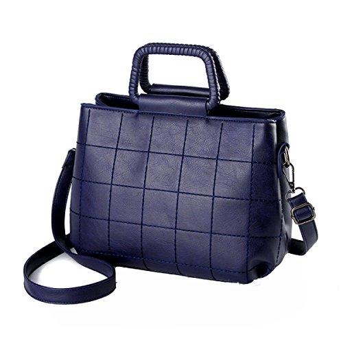 Yy.f Nuove Borse Alla Moda Piccoli Sacchetti Quadrati Ricamati Borse Spalla Femminile Del Sacchetto Diagonale Multicolore Blue