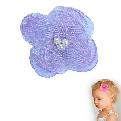 Mädchen TruStay Clip - Mohn Perle Bogen Haarspange - Beste rutschfeste Haarspange für feines Haar (GC2-Lavender) (Mädchen-euro-boutique)