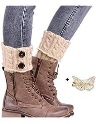 Malloom® Tejer Calcetines Calentadores de la pierna cubierta de arranque Calcetines calientes
