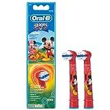 Braun Oral-B Stages Power Kids Aufsteckbürsten Micky Maus 2er Pack Bürstenköpfe Kinder EB10-2K Mickey Mouse -