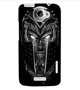 ColourCraft Scary Face Design Back Case Cover for HTC ONE X