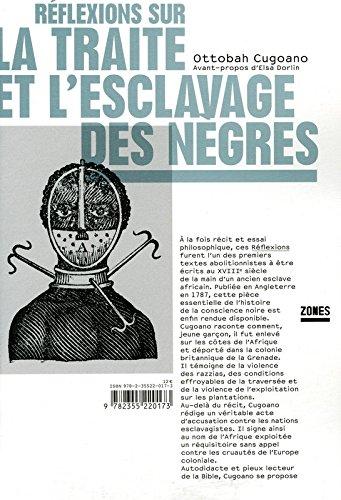 Rflexions sur la traite et l'esclavage des Ngres